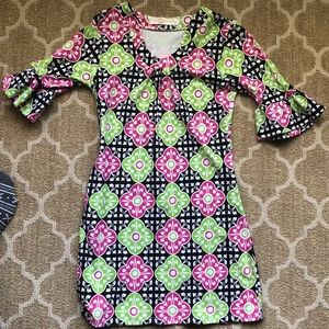 Tracy Negoshian Bell Sleeve Dress Size M